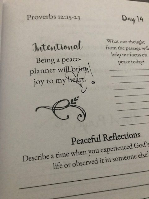 Asking the Lord for a refill of peace for the new week. You too? Rest well. #perfectpeacejournal #biblereadingplan