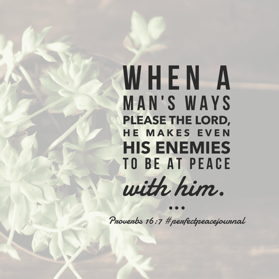 One surefire way to make peace with your enemies is to focus on the Lord first. Have a fruitful Friday! #perfectpeacejournal#biblereadingplan