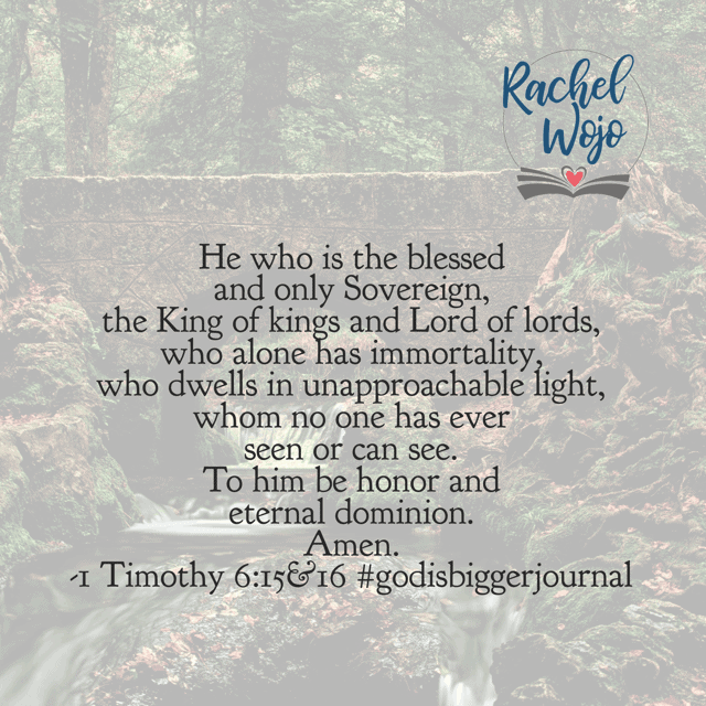 Remember when God hid Moses behind a rock so the light of His glory and presence wouldn't slay him? Wow. Father, may we praise you this Monday for you alone are immortal.#biblereadingplan#godisbiggerjournal