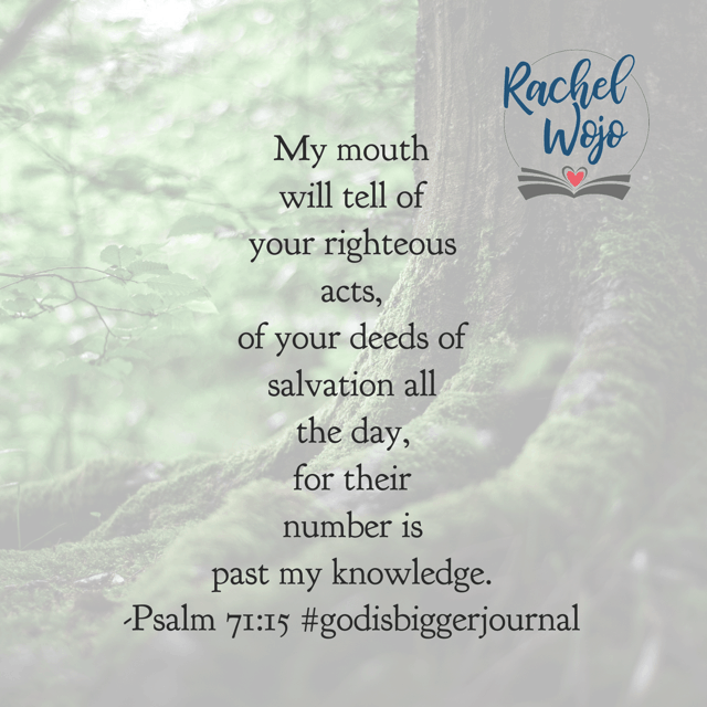I feel like the Lord is challenging me with this verse especially this morning. Am I living a life of praise or pessimism? Am I choosing to know God is at work because He has been since the beginning of time? Make it a meditating kind of Monday!#biblereadingplan#godisbiggerjournal