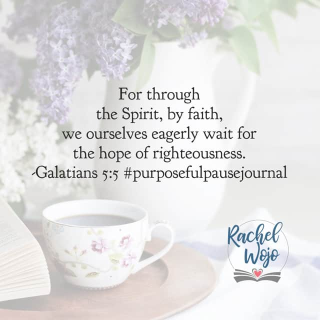 Through the Spirit. Father, thank you for the comfort and power of Your Spirit within me. May I be aware of all that You have while I wait on your timing. Amen. #purposefulpausejournal #biblereadingplan