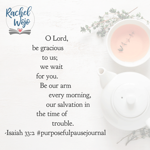 Our wait. Our salvation. Essentially? Our Rescuer. Jesus, may we remember that you love us too much for the wait to be a waste. Help us remember that Your timing is always perfect. #purposefulpausejournal #biblereadingplan