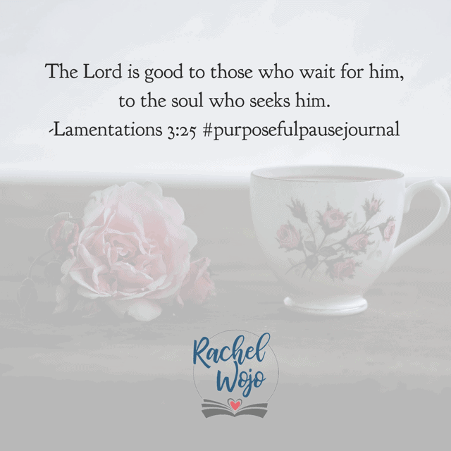 It is good to wait quietly for the Lord. I'm not good at waiting. But I long to grow in my understanding and enjoyment of the wait. You too? Make it a marvelous Monday! #purposefulpausejournal#biblereadingplan