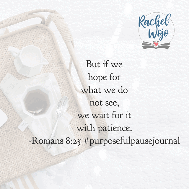 We wait because we can't always see what God is doing. But we can believe Him for Who He is. In the mean time, our patience and understanding of His work in our hearts grows. 💝 Can you see the gift in waiting for God? Have a wonderful Wednesday! #purposefulpausejournal#biblereadingplan