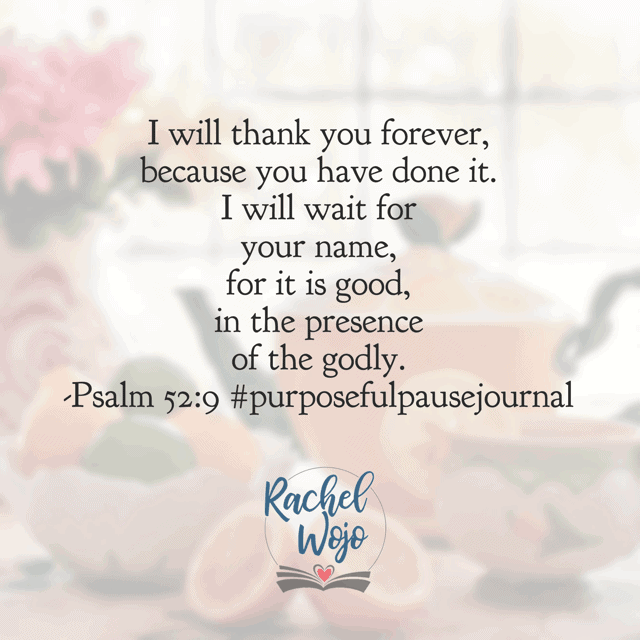 """""""The steadfast love of God endures all the day."""" Father, thank you that you don't ration your love, but instead, you lavish it on me. I'm so grateful. Help me remember that your love is so great that you choose nothing less than perfect timing. That in you, the wait is beautiful. Amen.#purposefulpausejournal#biblereadingplan Psalm 62:1-6"""