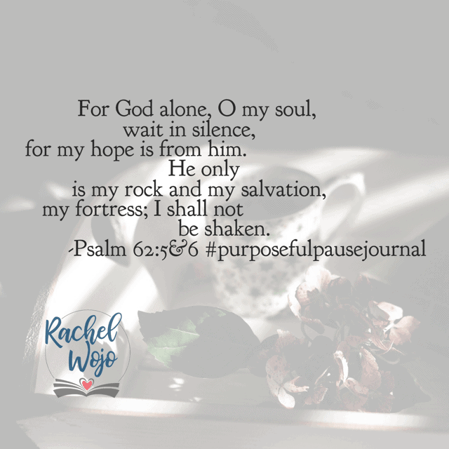God alone. When I place my hope in things, or people, or myself? It doesn't usually end well. Because hope is too precious a commodity to place anywhere other than in Jesus. God is working in the wait; no need to be anxious today!#purposefulpausejournal#biblereadingplan