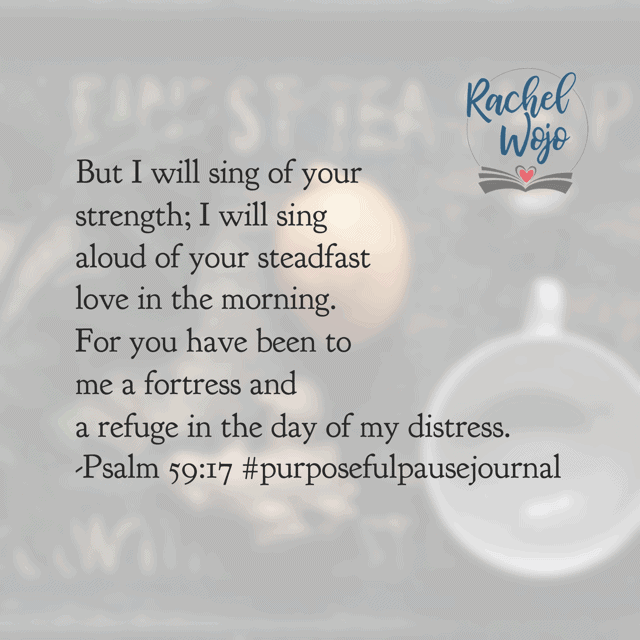 Do you feel like you are distressed? He's there. Is the stress of waiting on circumstances to change wearing you down? He's holding you. How do I know? The testimony of His Word is true! I'm not usually a loud music kind of girl but this verse is inspiring me to crank it up today! Have a super Saturday! #purposefulpausejournal #biblereadingplan #praisehimanyway