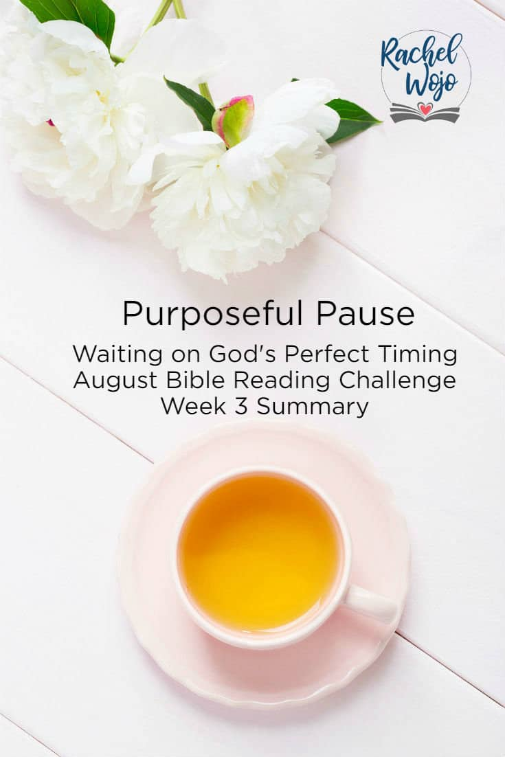 Thank you so much for coming by! Welcome to the Purposeful Pause Week 3 Bible reading summary! ! If this is your first time here, each month, I host a monthly Bible reading challenge and each week we take a look back at the previous week of Bible verses. When I first announced this month's Bible reading challenge, I had no idea how personal the topic of waiting on God would be for me. I am looking forward to writing out the verses for this review; let's do it!