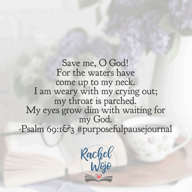 If the psalmist is describing your personal situation right now, there is help, hope, and healing in the wait. God, thank you for being with us. Open our eyes to reveal the gifts in the desert, the beauty in the waiting.#purposefulpausejournal#biblereadingplan