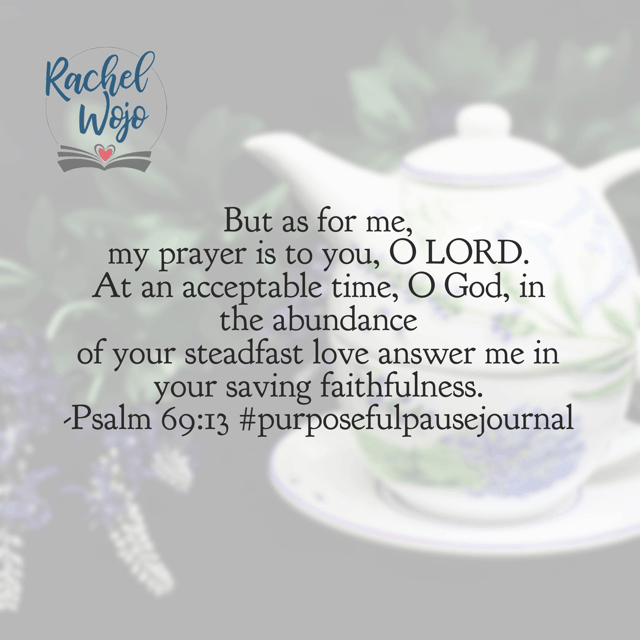 At an acceptable time, O Lord. Jesus, let us daily die to our own desires. May the waiting be a sweet surrender that honors You because we trust You and your perfect timing. Amen.#purposefulpausejournal#biblereadingplan