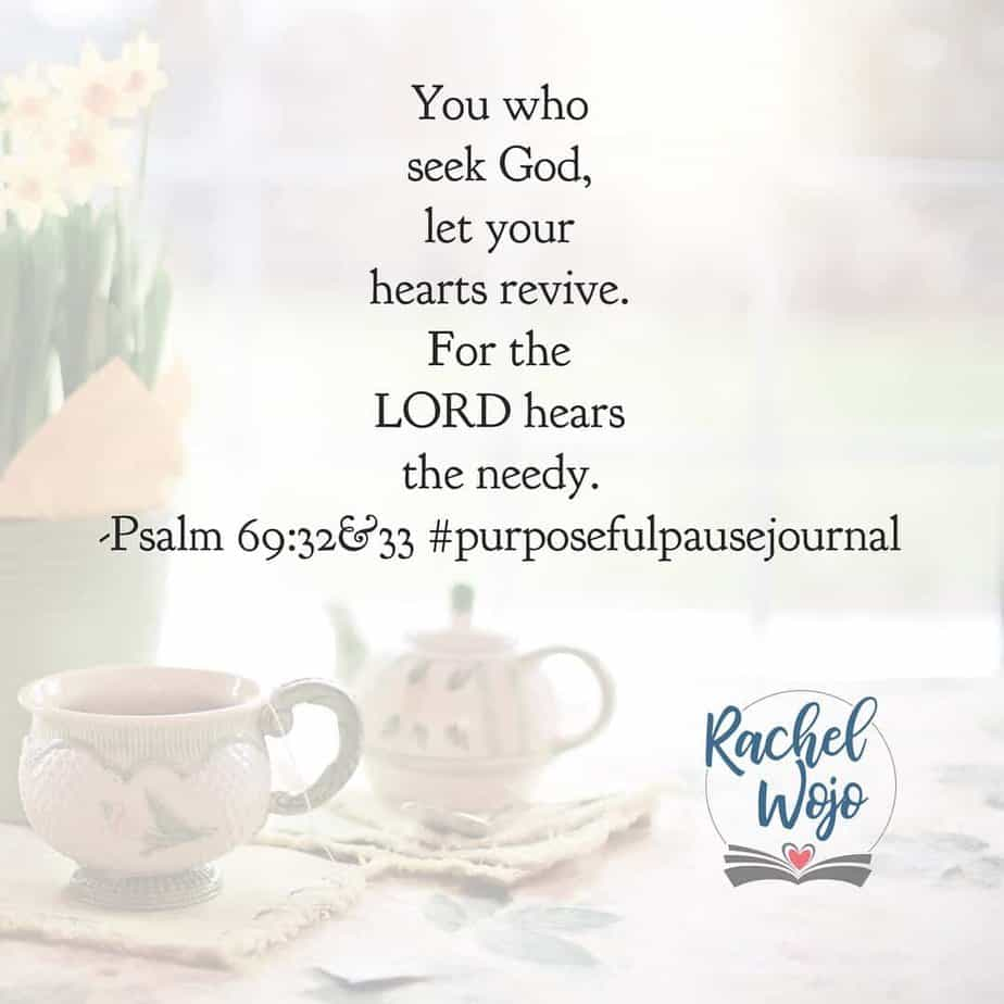 God, today I rest in you. Though pain is near and affliction is present, I set my heart to praise your name. Thank you for your love and salvation. Thank you for hearing my needs and providing before I request. Thank you for sustaining and restoring. Amen. #purposefulpausejournal#biblereadingplan