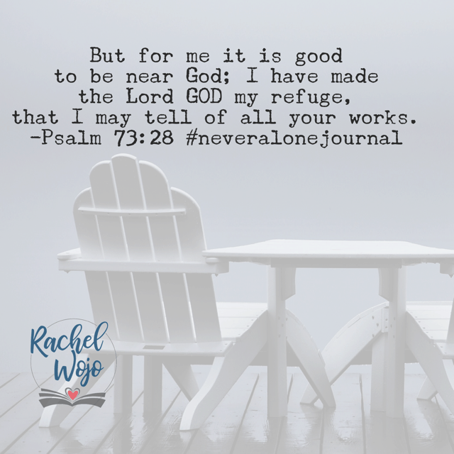 But for me. The psalmist did not focus on what everyone else was doing. He determined to remain as close as he could to the Father. Jesus, let us not get sidetracked by the affairs of today. May we take refuge in you and you alone. Amen. #neveralonejournal #biblereadingplan#neveralone