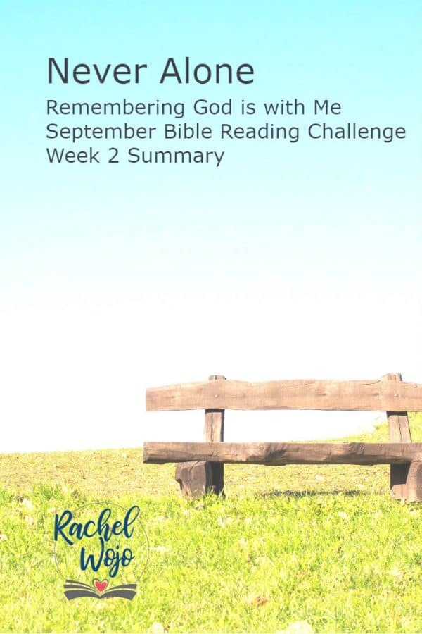 Never Alone Bible Reading Challenge Week 2 Summary