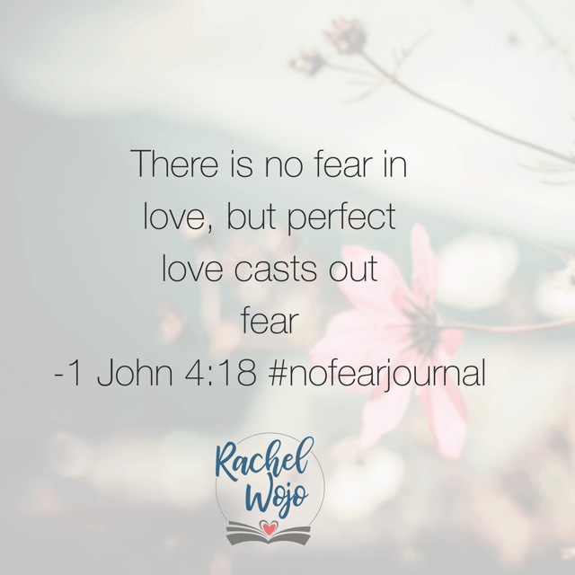 There is no fear IN love. I remember when I fell in love with my husband. And though our love was far from perfect, we felt invincible. World-conquering even. 🙂 What If today we were so in love with Jesus, we allowed his love to encapsulate our hearts fully?