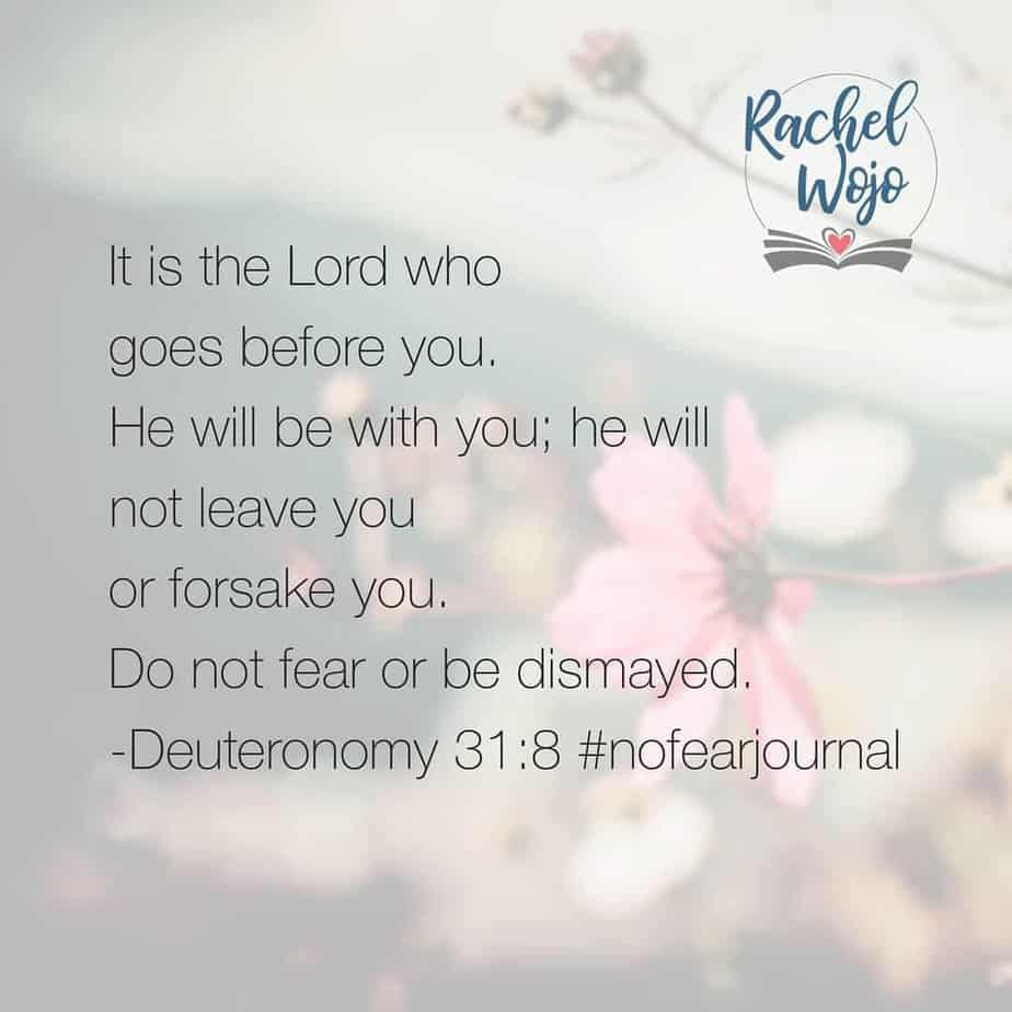 3 times. 3 times in just 8 verses, Moses tells the children of Israel the same thing. God goes before you; don't be afraid. God goes before you; don't be afraid. God goes before you; don't be afraid. Why did he keep saying it? Because they, like us, were prone to forget.