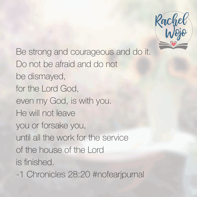 What a verse for Monday morning! No matter what you face today, God is with you through it!#nofear#nodearjournal#biblereadingplan#biblereading