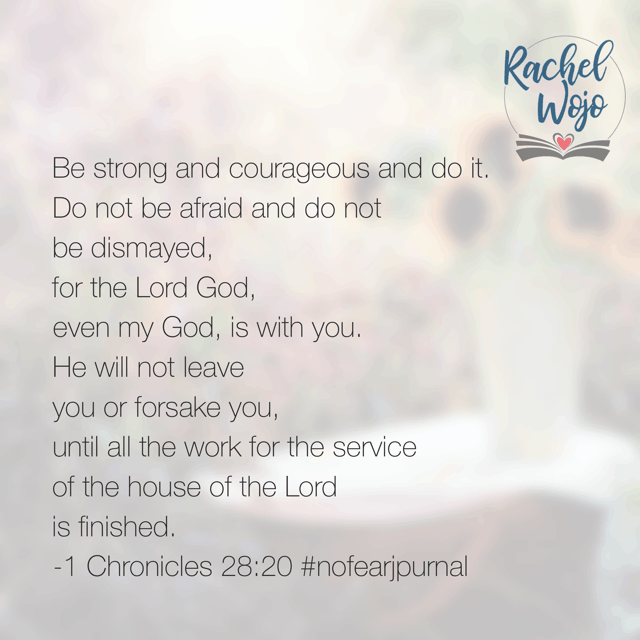 What a verse for Monday morning! No matter what you face today, God is with you through it! #nofear #nodearjournal#biblereadingplan #biblereading