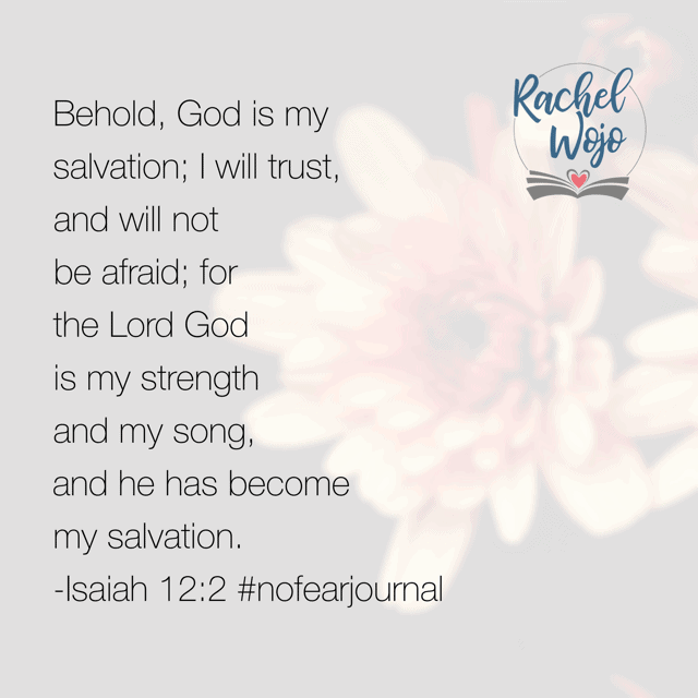 Oh Father, thank you for your salvation. I trust you in all things today. Help me rely on your strength. Fill my heart with your song. Thank you for saving me- especially from myself. Thank you that I don't have to be afraid of whatever comes my way.