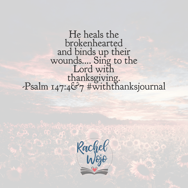 A reason to sing. When your heart is broken and bleeding, fall on the One who heals hearts