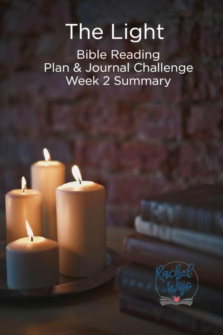 The Light Bible Reading Challenge Week 2 Summary