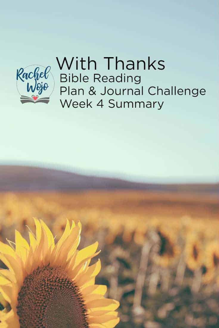 With Thanks Bible Reading Challenge Week 4 Summary