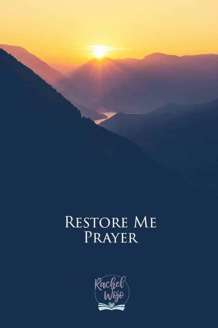 Restore Me Prayer