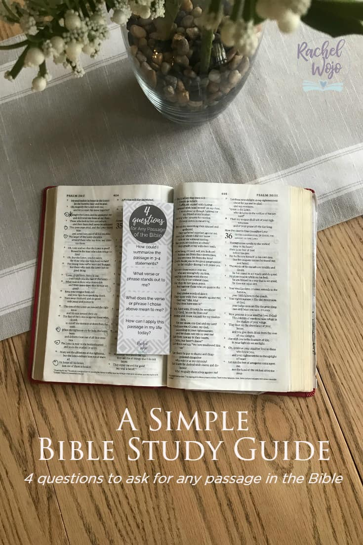 Simple Bible Study Guide for Any Passage