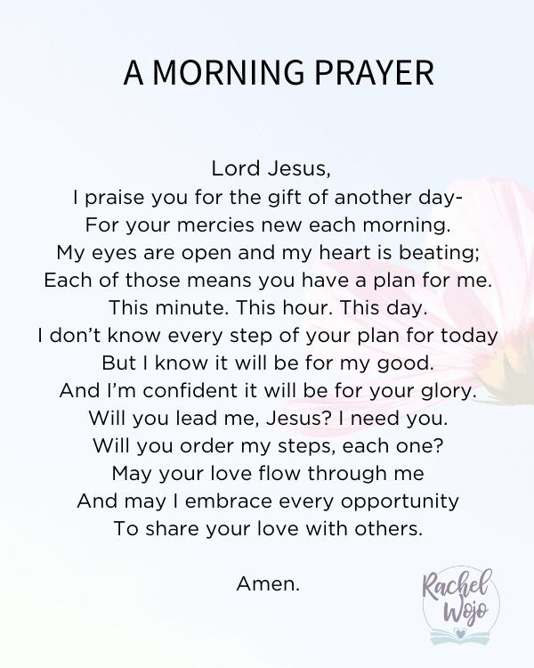 Prayer before starting work morning Short Morning