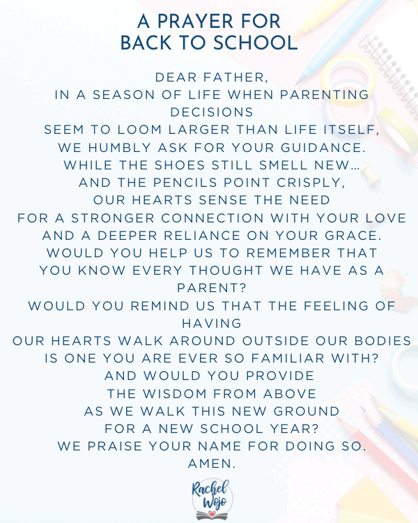 A Prayer for Back to School