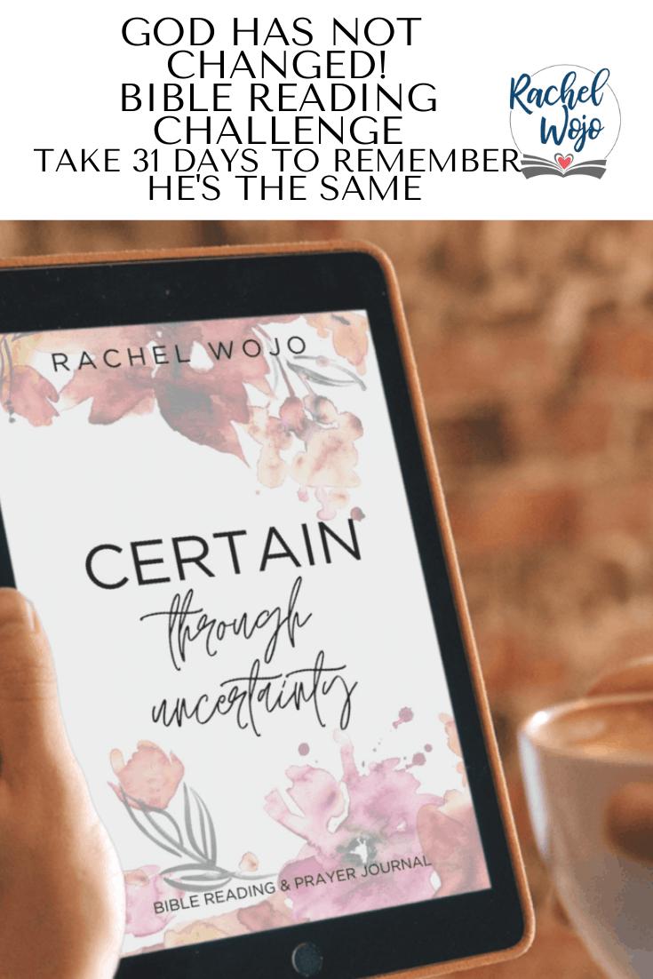 Certain through Uncertainty Bible Reading Challenge